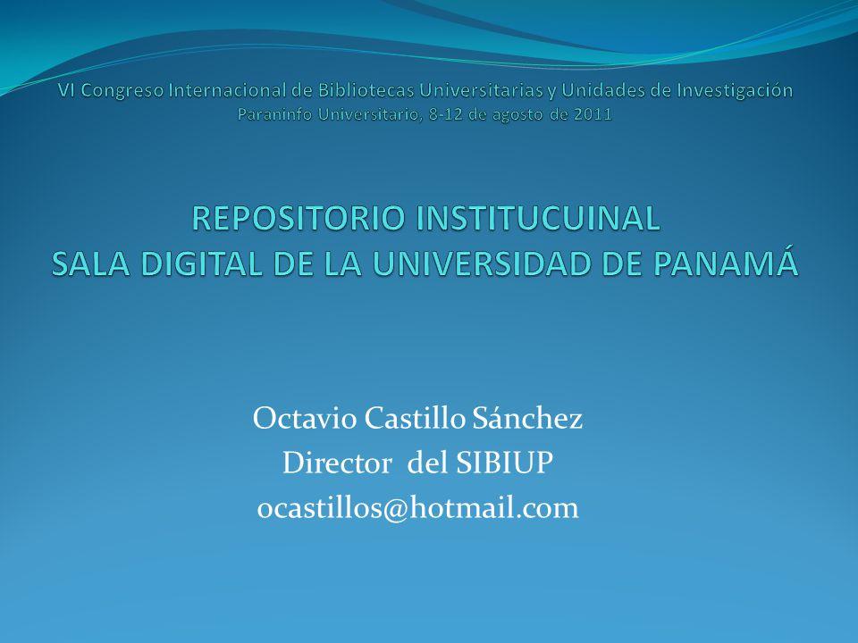 Octavio Castillo Sánchez Director del SIBIUP ocastillos@hotmail.com