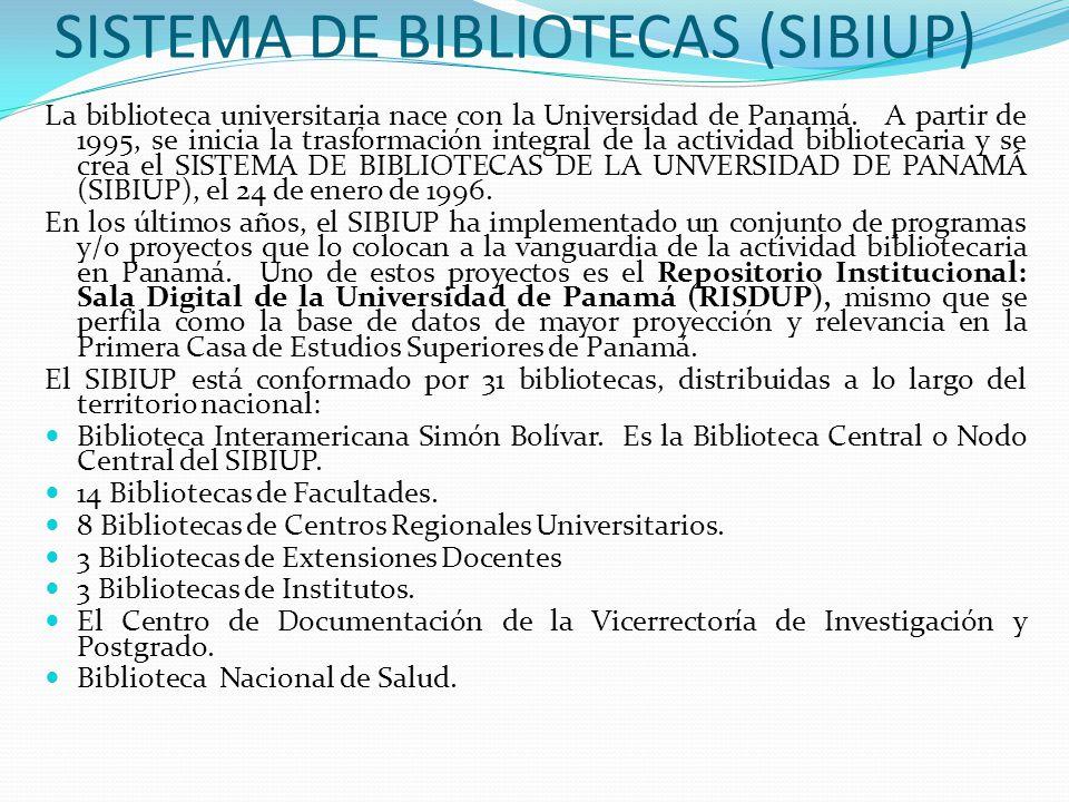 SISTEMA DE BIBLIOTECAS (SIBIUP)