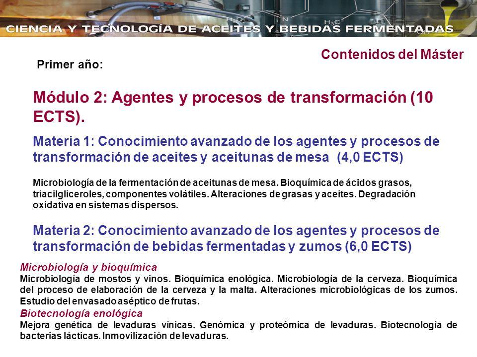 Módulo 2: Agentes y procesos de transformación (10 ECTS).