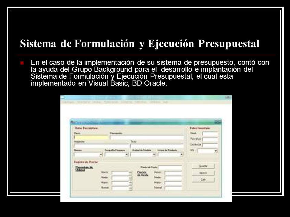 Sistema de Formulación y Ejecución Presupuestal