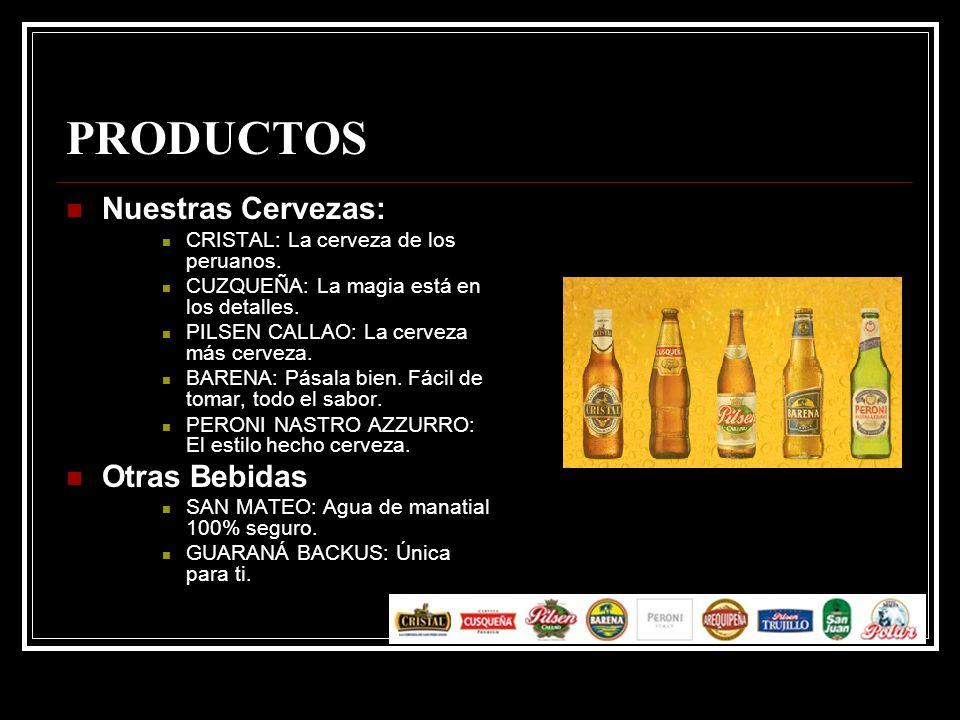 PRODUCTOS Nuestras Cervezas: Otras Bebidas