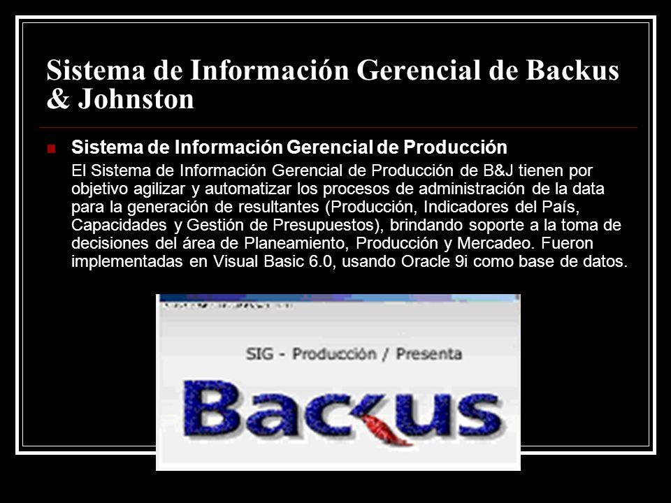 Sistema de Información Gerencial de Backus & Johnston
