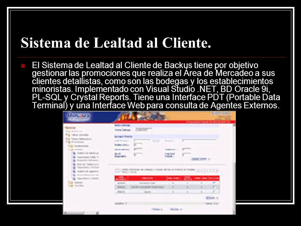 Sistema de Lealtad al Cliente.