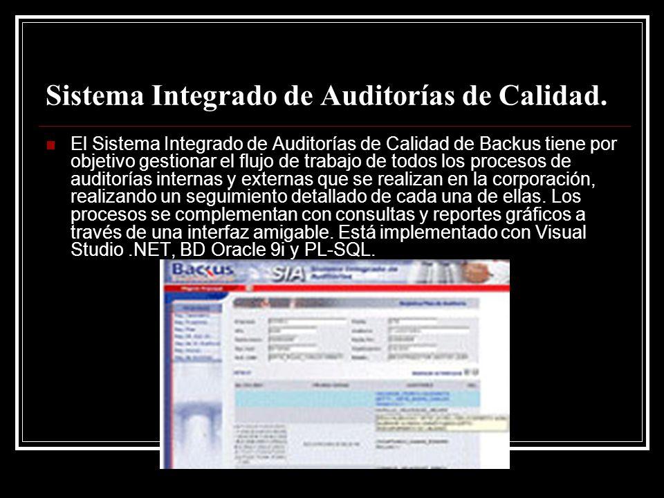 Sistema Integrado de Auditorías de Calidad.