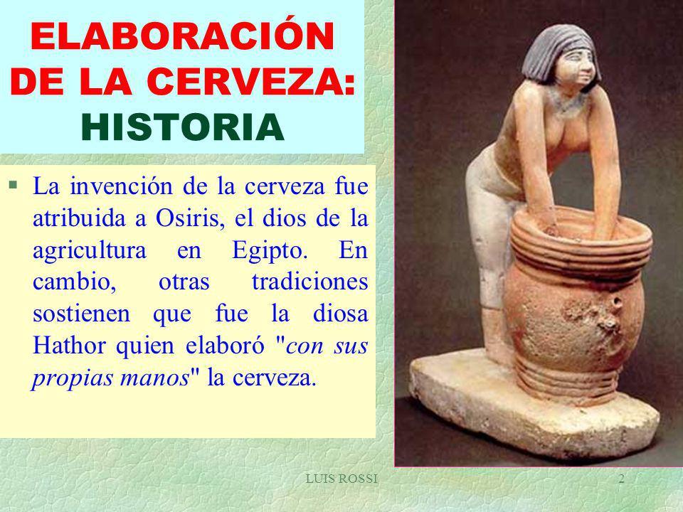 ELABORACIÓN DE LA CERVEZA: HISTORIA