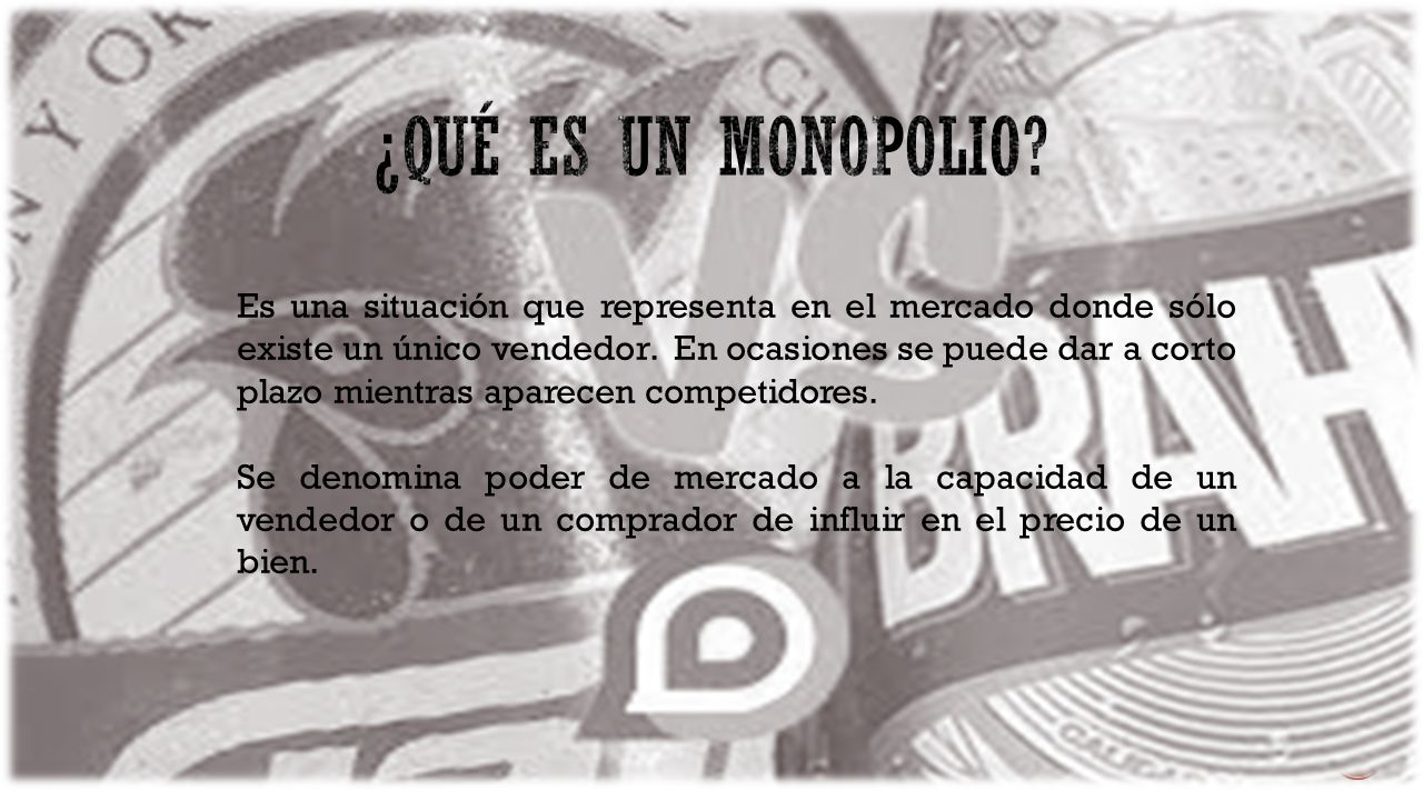 ¿Qué es un monopolio