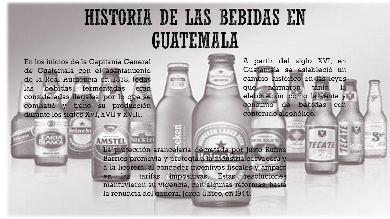 HISTORIA DE LAS BEBIDAS EN GUATEMALA