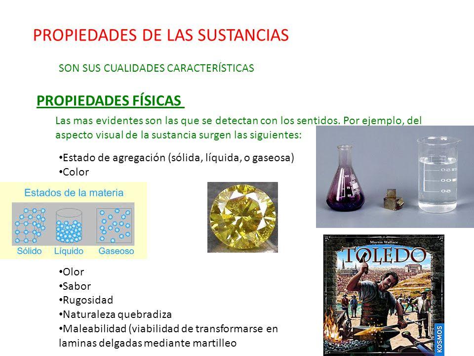 PROPIEDADES DE LAS SUSTANCIAS