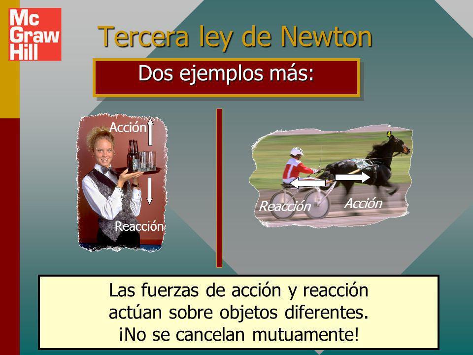 Tercera ley de Newton Dos ejemplos más: