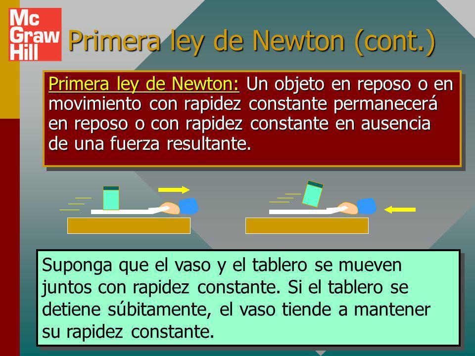 Primera ley de Newton (cont.)