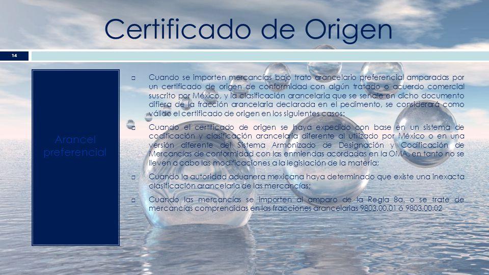 Certificado de Origen Arancel preferencial
