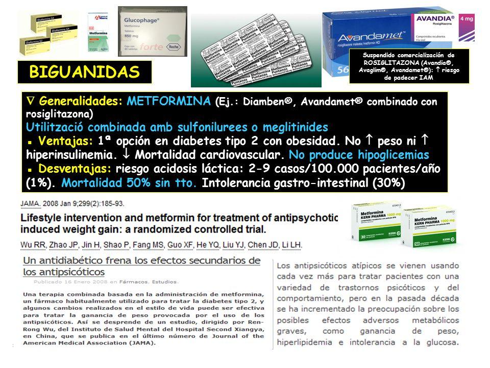 Suspendido comercialización de ROSIGLITAZONA (Avandia®, Avaglim®, Avandamet®):  riesgo