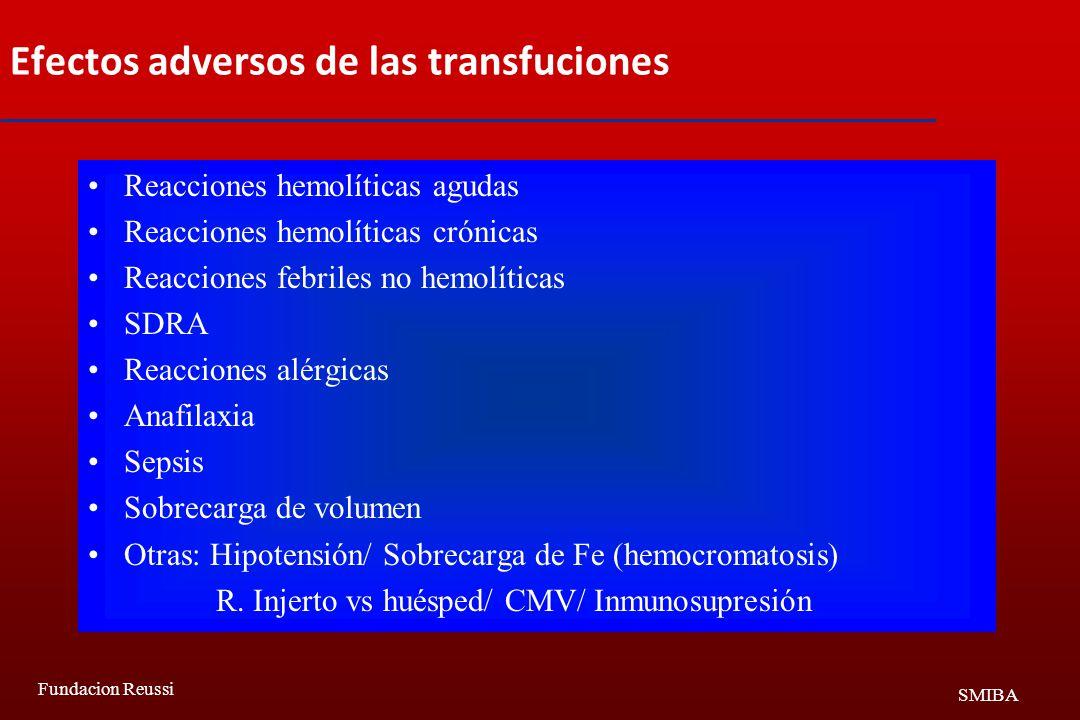 Efectos adversos de las transfuciones