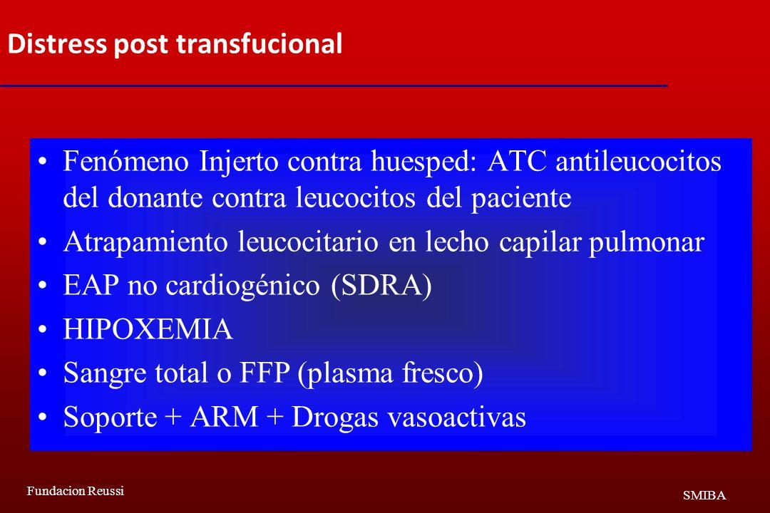 Distress post transfucional