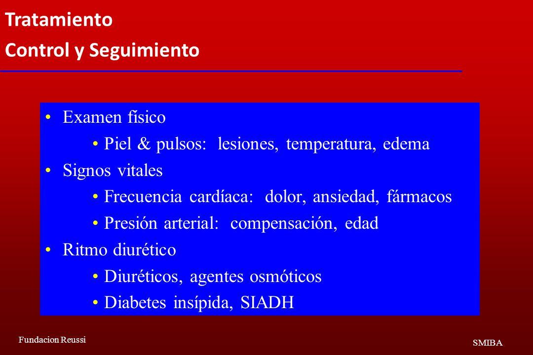 Tratamiento Control y Seguimiento Examen físico
