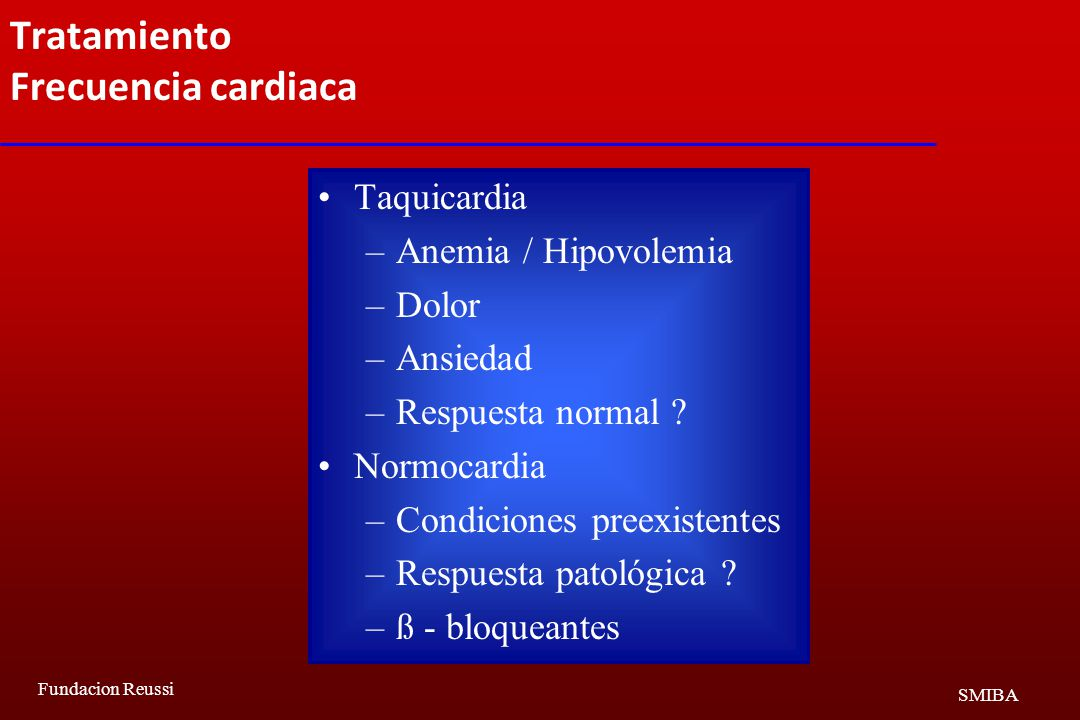Tratamiento Frecuencia cardiaca