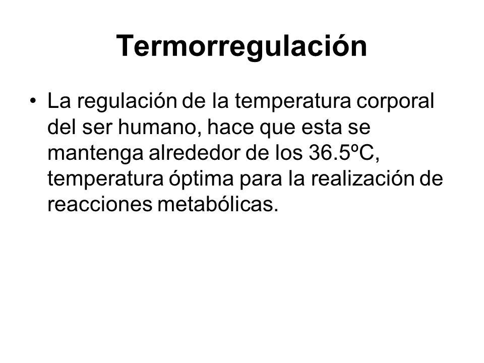 Termorregulación
