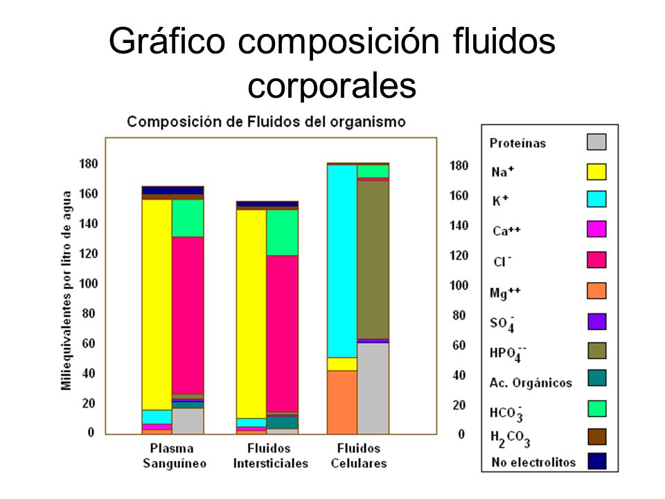 Gráfico composición fluidos corporales