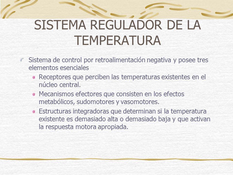 SISTEMA REGULADOR DE LA TEMPERATURA