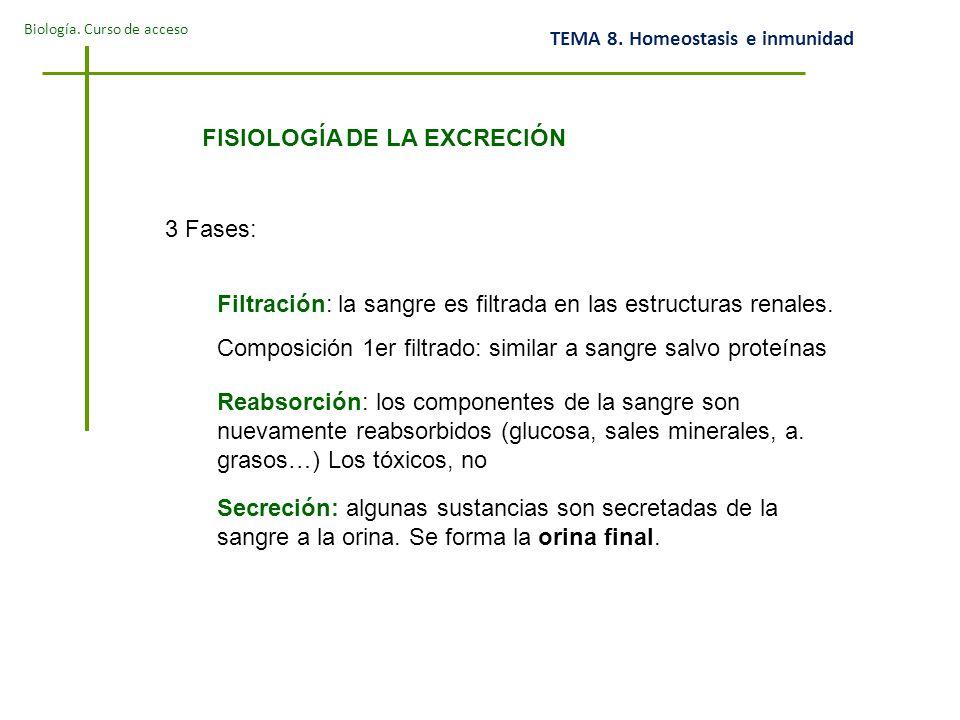 FISIOLOGÍA DE LA EXCRECIÓN