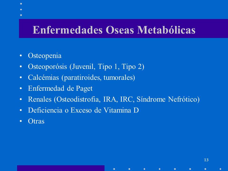 Enfermedades Oseas Metabólicas