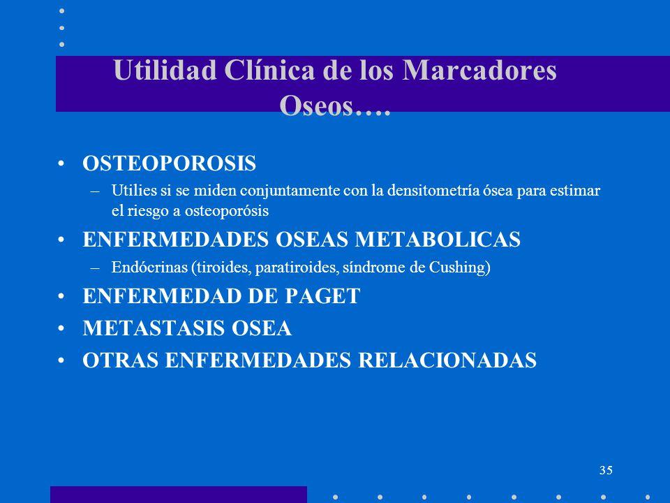 Utilidad Clínica de los Marcadores Oseos….