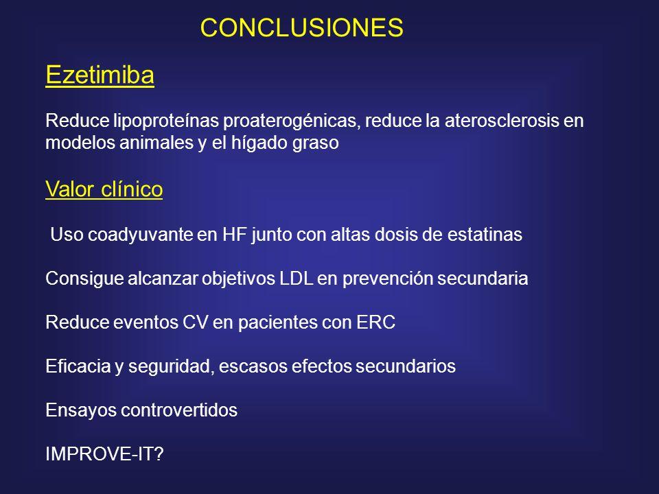 CONCLUSIONES Ezetimiba Valor clínico