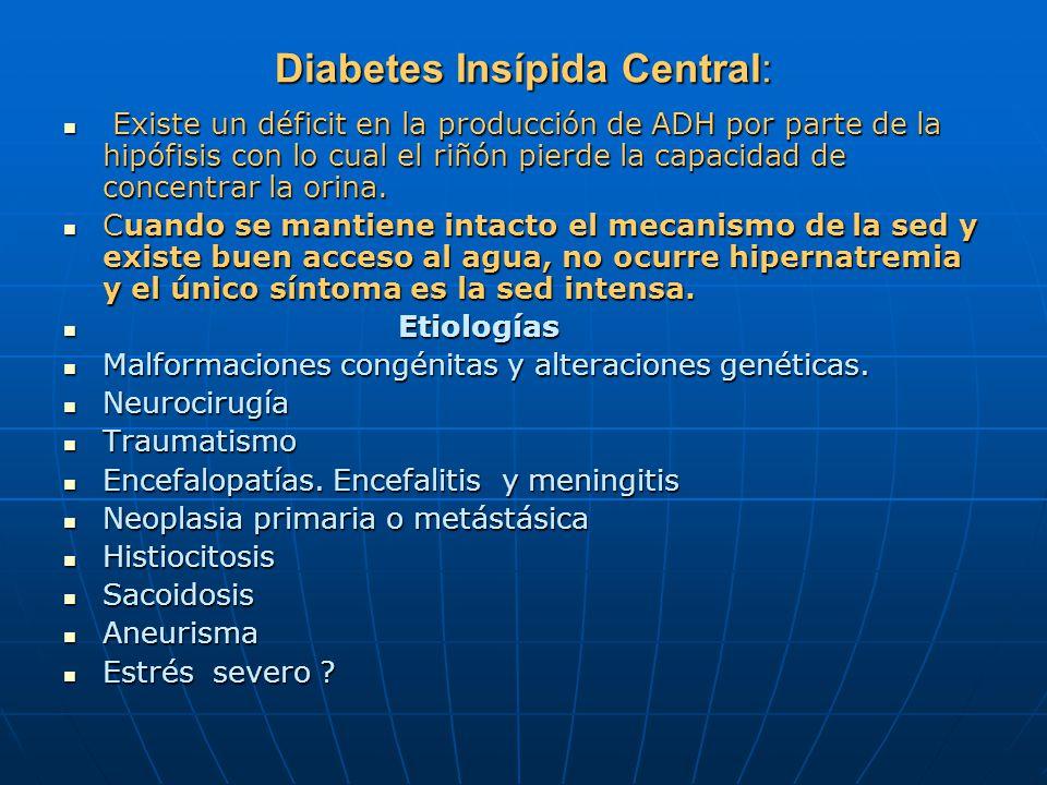 Diabetes Insípida Central: