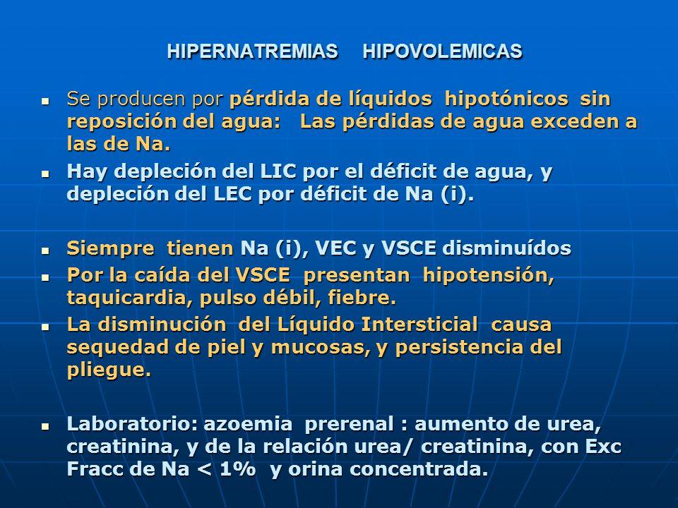 HIPERNATREMIAS HIPOVOLEMICAS