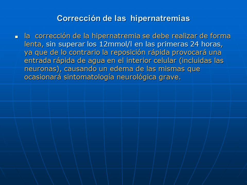 Corrección de las hipernatremias