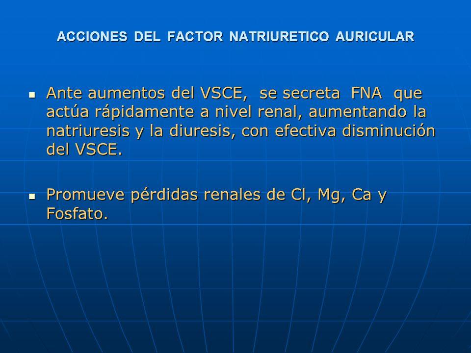 ACCIONES DEL FACTOR NATRIURETICO AURICULAR