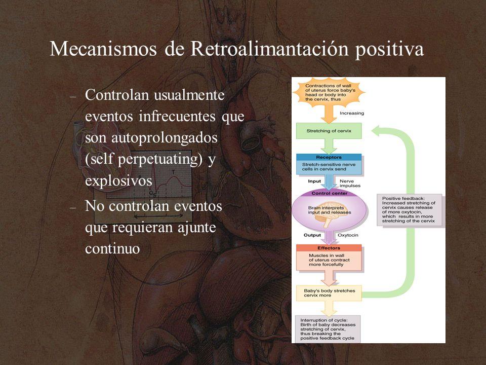 Mecanismos de Retroalimantación positiva