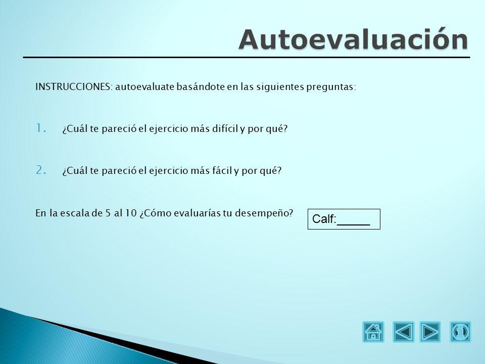 Autoevaluación Calf:_____