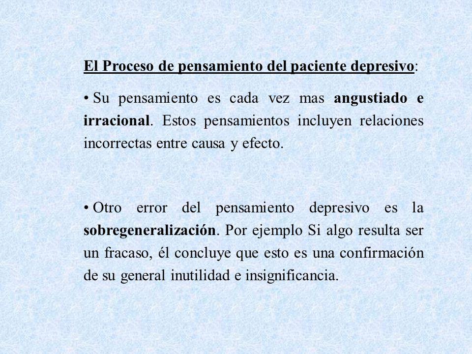 El Proceso de pensamiento del paciente depresivo: