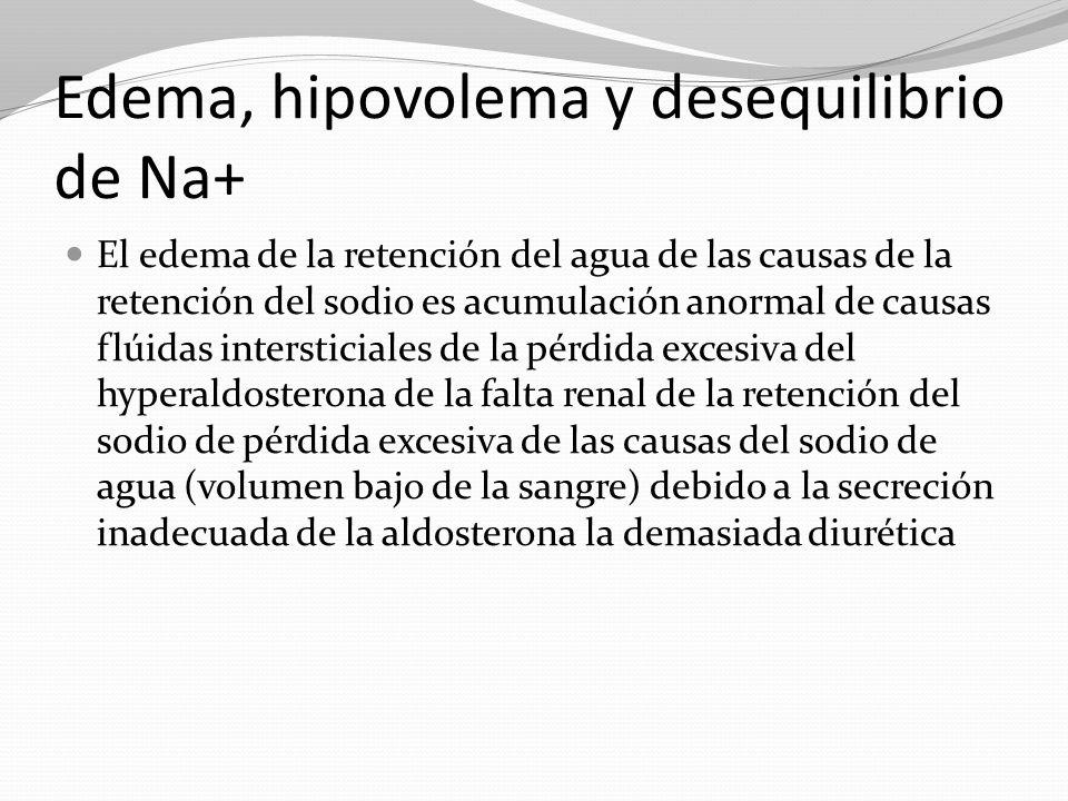 Edema, hipovolema y desequilibrio de Na+