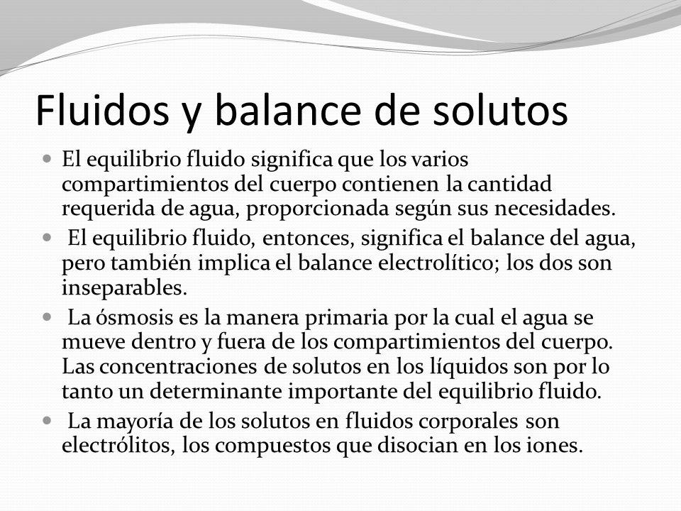 Fluidos y balance de solutos
