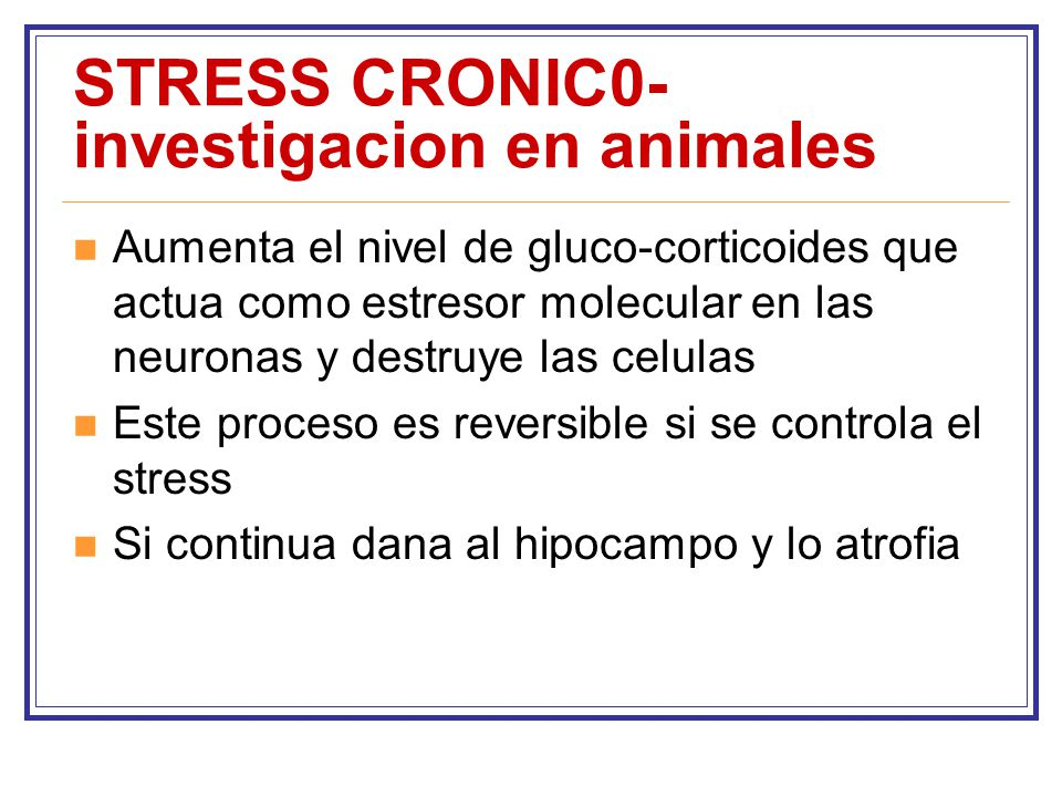 STRESS CRONIC0-investigacion en animales