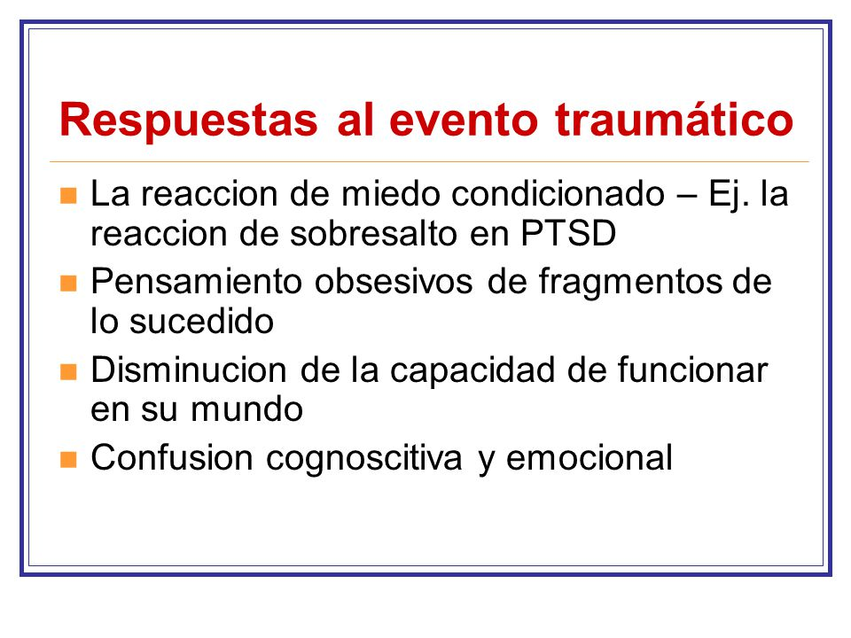 Respuestas al evento traumático
