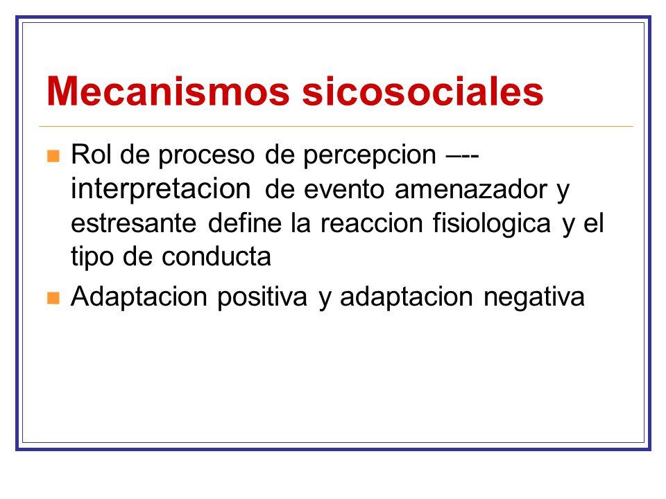 Mecanismos sicosociales