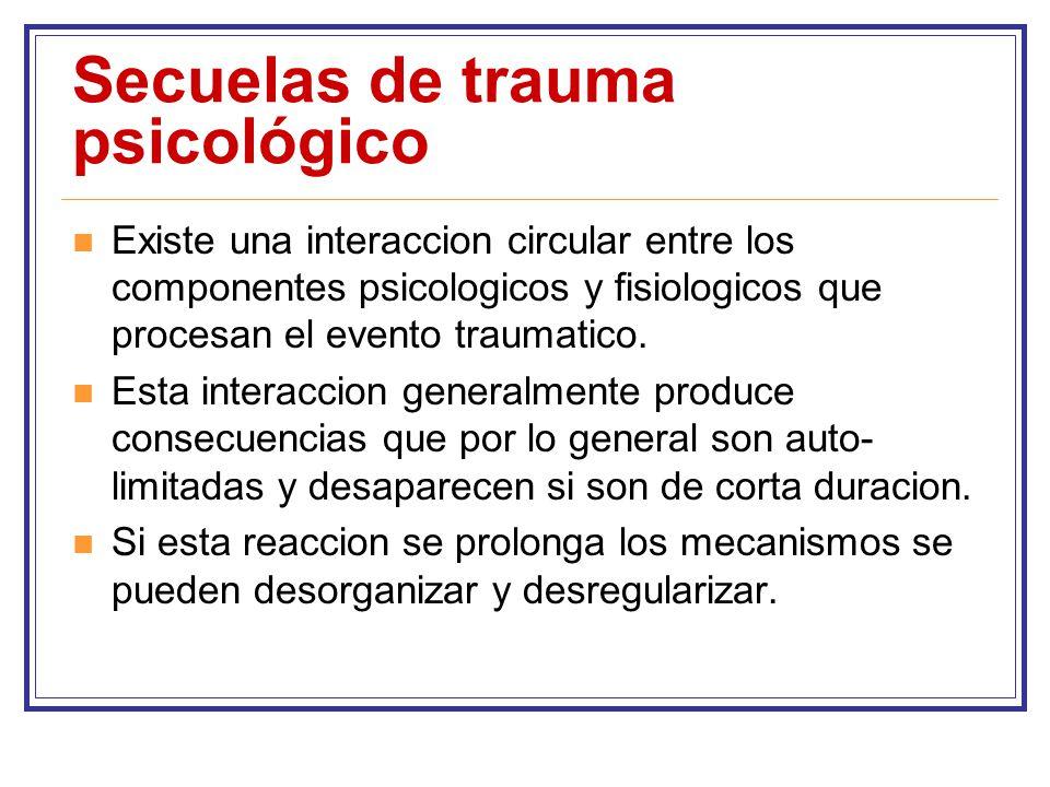 Secuelas de trauma psicológico