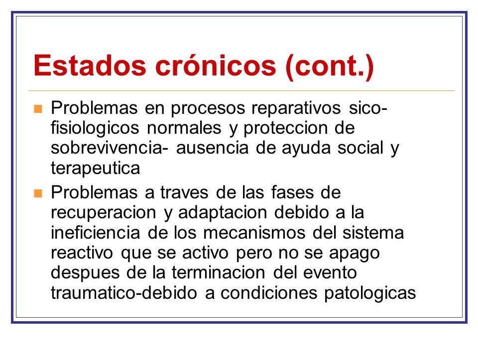 Estados crónicos (cont.)