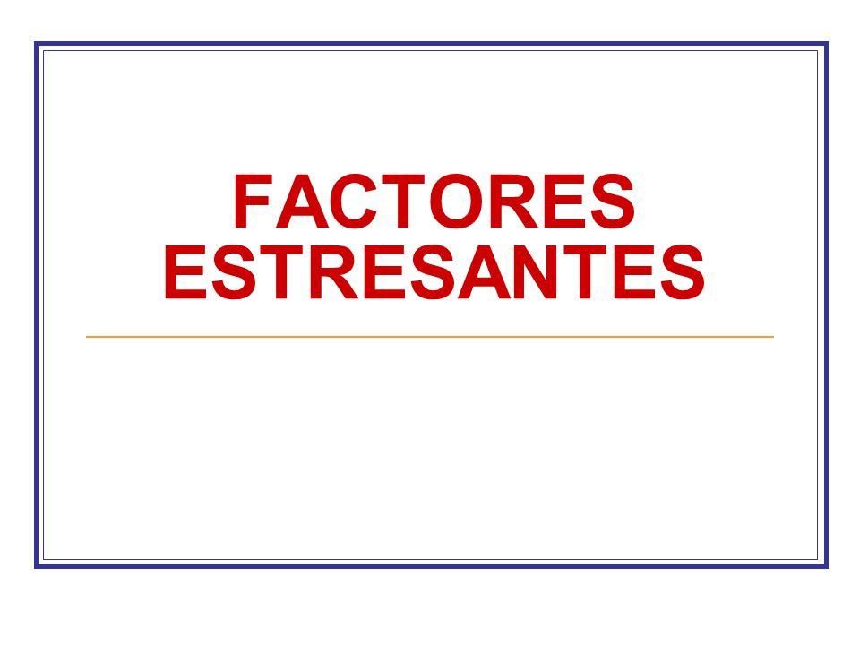 FACTORES ESTRESANTES