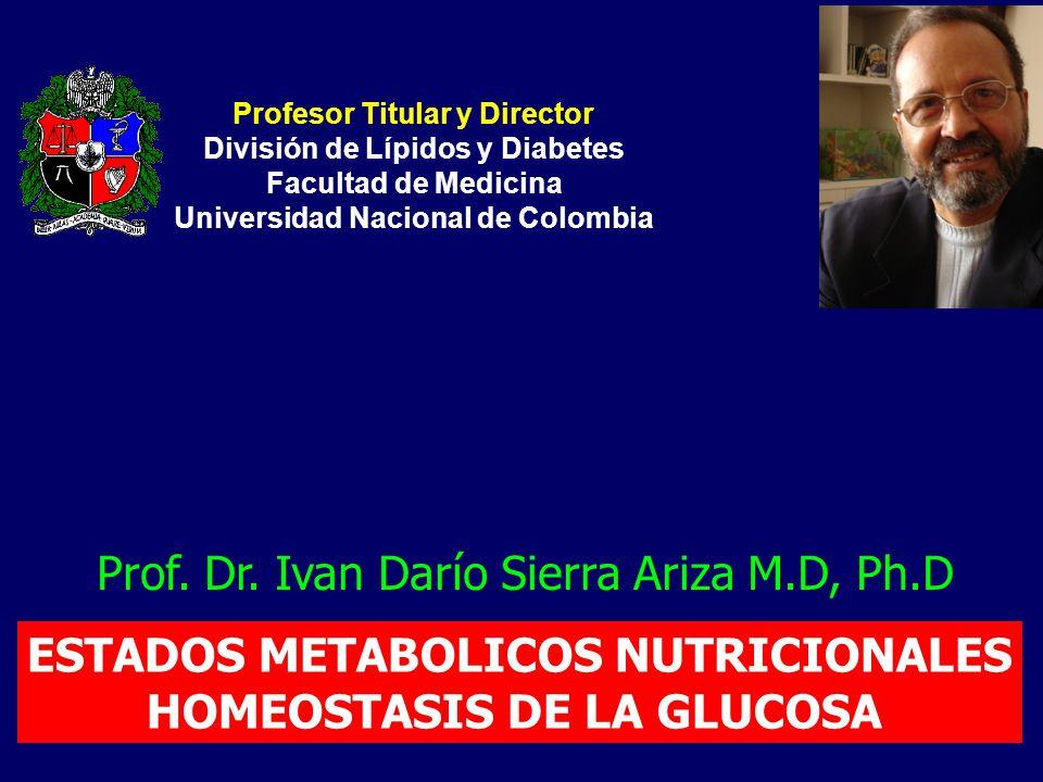 ESTADOS METABOLICOS NUTRICIONALES HOMEOSTASIS DE LA GLUCOSA