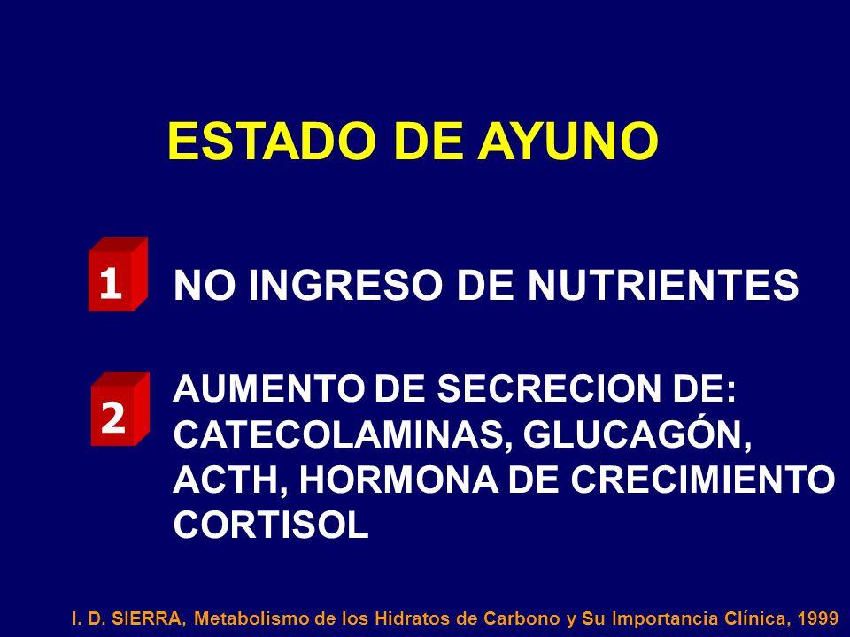ESTADO DE AYUNO 1 NO INGRESO DE NUTRIENTES 2