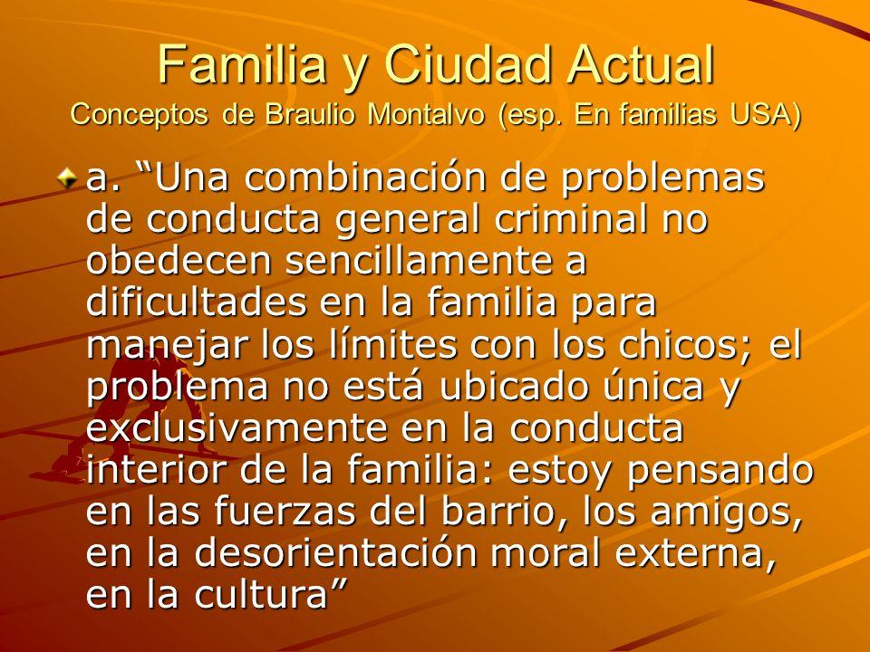 Familia y Ciudad Actual Conceptos de Braulio Montalvo (esp