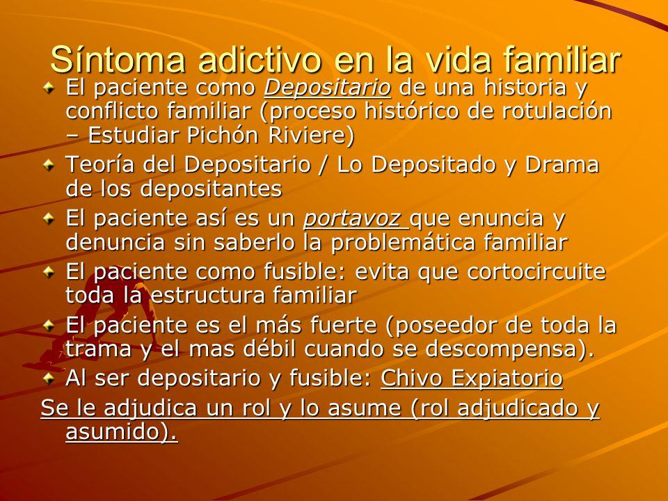 Síntoma adictivo en la vida familiar
