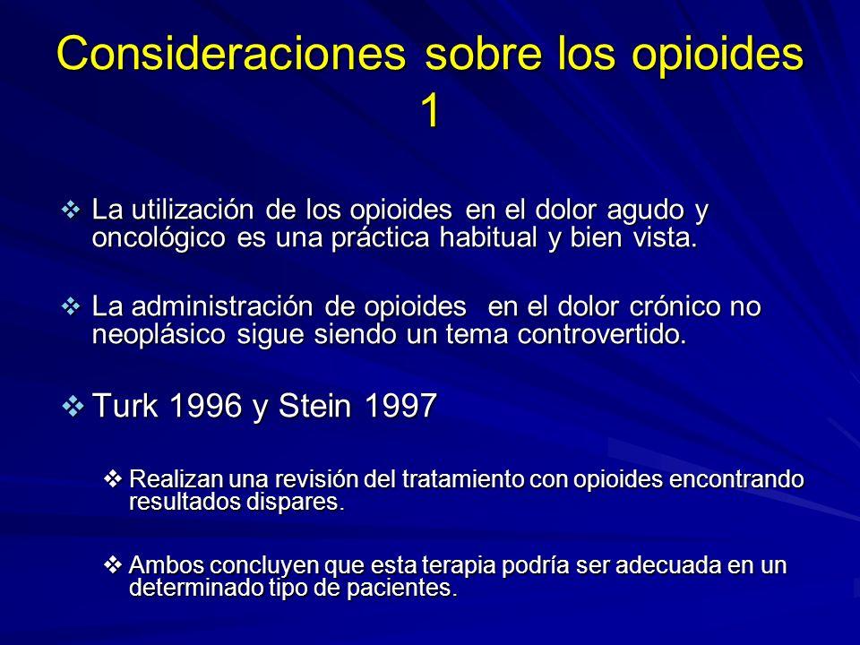 Consideraciones sobre los opioides 1