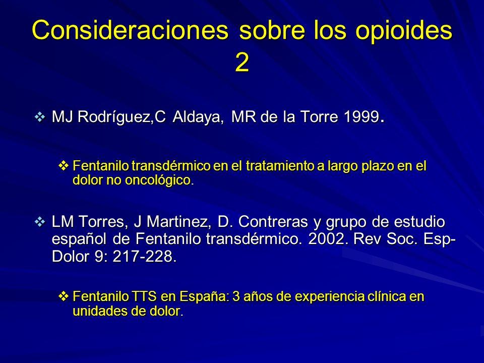 Consideraciones sobre los opioides 2
