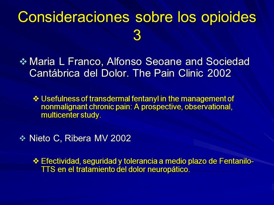 Consideraciones sobre los opioides 3
