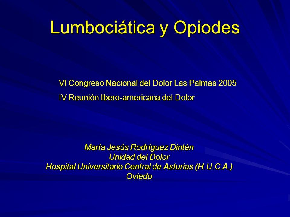 Lumbociática y Opiodes